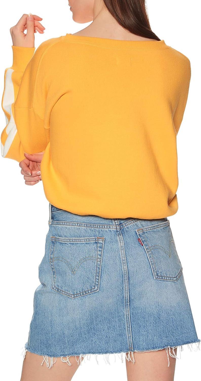 RVCA Aced Fleece Womens Sweater Amber