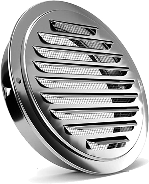 """Nice 5/""""Round Louvre Air Vent stainless steel Ventilation Ventilator Grille Cover"""