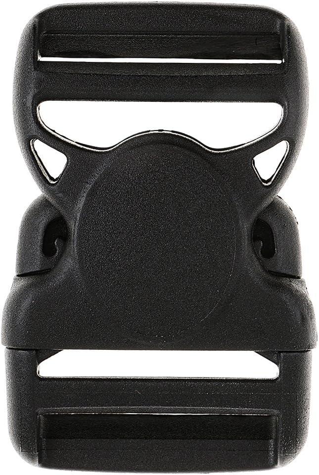 20mm Desconocido Hebilla Lateral Estreno de Pulsera Paracord Cincha Segura Pl/ástico Negro