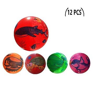 12 Pcs Juguete De Pelota De Playa De Balon 22CM (Animal Marino ...