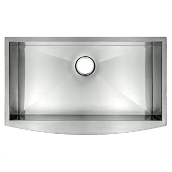 akdy 30 16 gauge handmade stainless steel undermount apron single bowl kitchen sink - Bowl Kitchen Sink