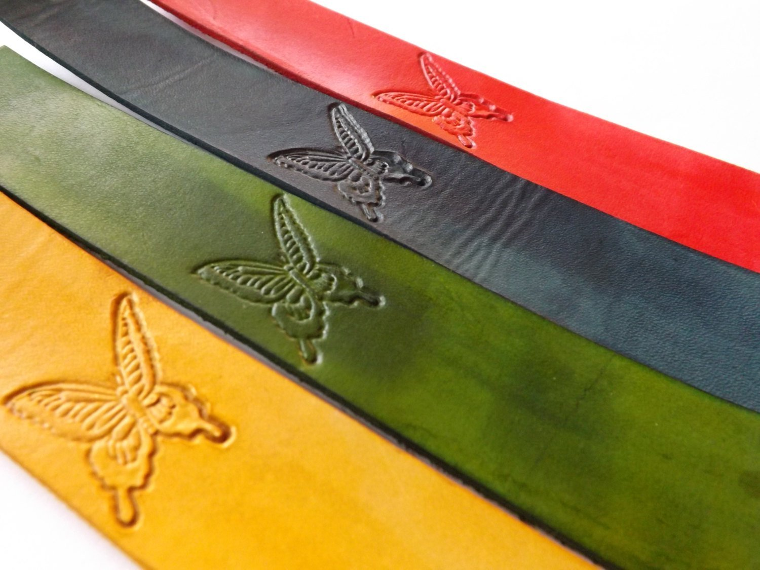 Handmade Leather Bookmark | Butterfly w/Multiple Color Options