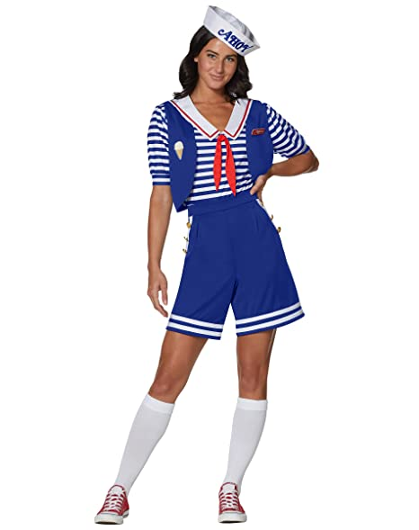 Spirit Halloween Adult Robin Scoops Ahoy Stranger Things Costume, Multicolored