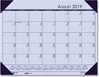 product image for House of Doolittle 2019-2020 Academic Desk Pad Calendar, EcoTones, Orchid, 18.5 x 13 Inches, August - July (HOD012573-20)