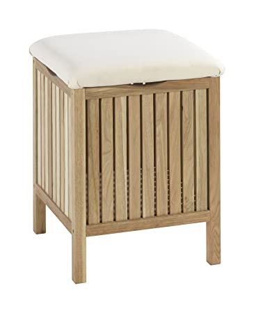 wenko 18614100 sgabello da bagno e arredo norway legno noce 80 cotone
