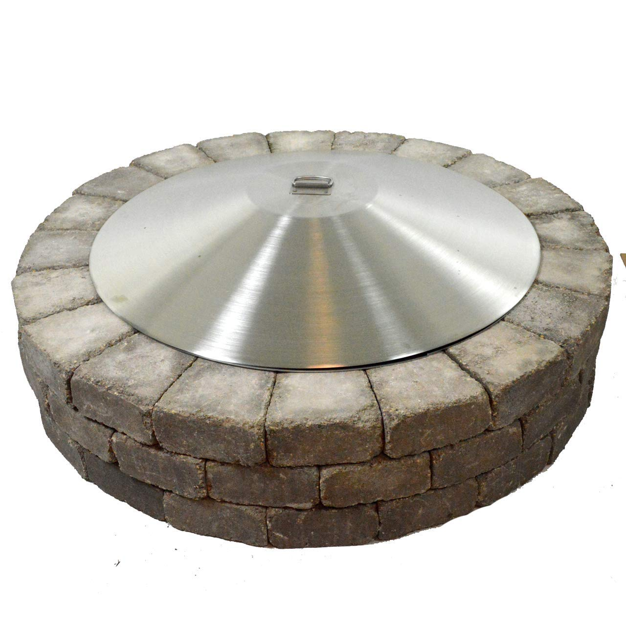 40'' Round Stainless Steel Dome Fire Pit Cover by Firebuggz
