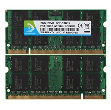 Duo meiqi 2 GB DDR2 667 MHz (PC2 5300S) 2R * 8 portátil So