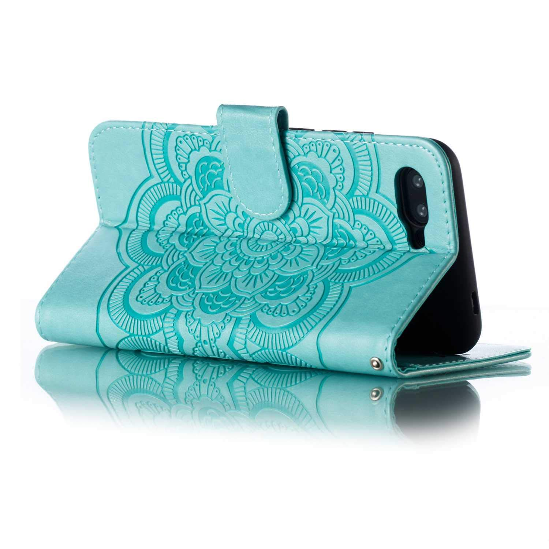 Carcasa con TPU Tapa Interna y Tira de Mu/ñeca Bear Village/® Funda para Huawei Honor 10 Billetera Funda de Cuero Azul Soporte Plegable