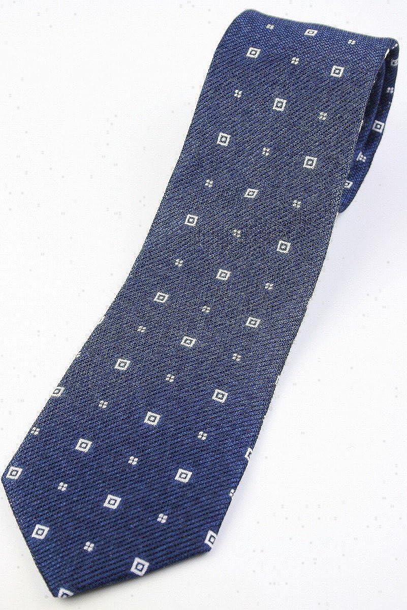 (フェアファクス) FAIRFAX メランジのフレスコ織り 小紋柄ネクタイ 浅いネイビー系 シルク100% ジャカードタイ 日本製 jg19541   B07BW3XP2K