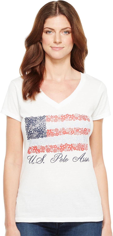 U.S. Polo Assn. Women's V-Neck Flag Tee 21-4197-0H
