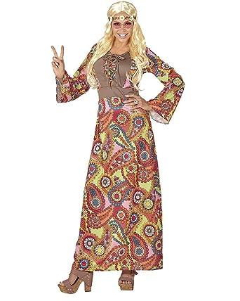 b04b92f7241f Vari Costume Carnevale Donna Hippie Anni 60 PS 26128 Taglie Forti   Amazon.it  Abbigliamento