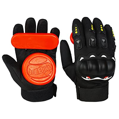 Andux Land Adult Longboard Downhill Slide Gloves Upgraded with 2 Slider Pucks HBST-05 : Sports & Outdoors