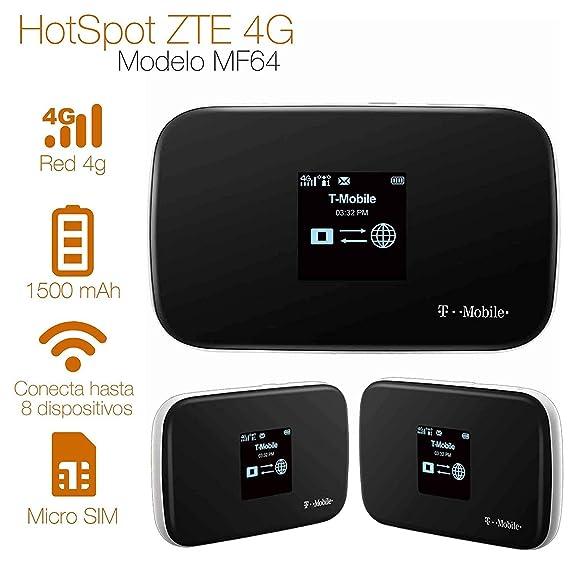 Amazon.com: ZTE MF64 4G Mobile Broadband Wifi HotSpot Z64 (T ...