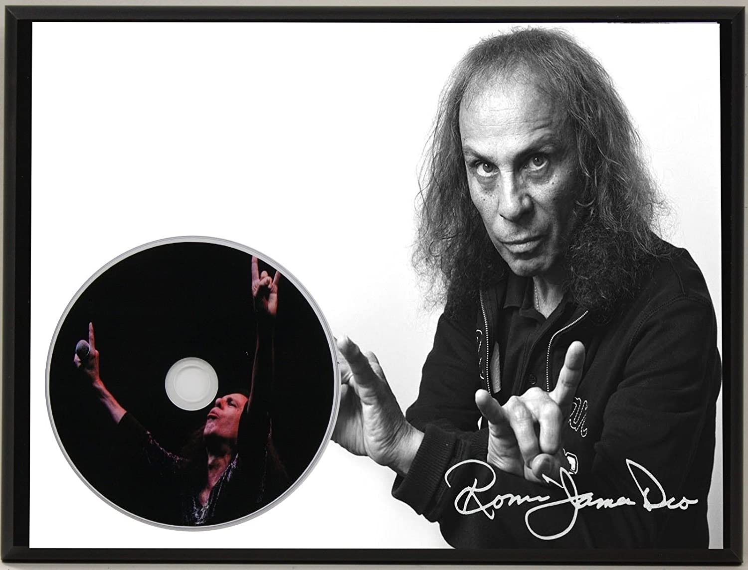 RONNIE JAMES DIO LTD EDITION SIGNATURE SERIES PICTURE CD DISPLAY GIFT