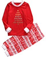 EGELEXY Christmas Family Matching Pajamas Sleepwear Sets for the Family XAMS Gift