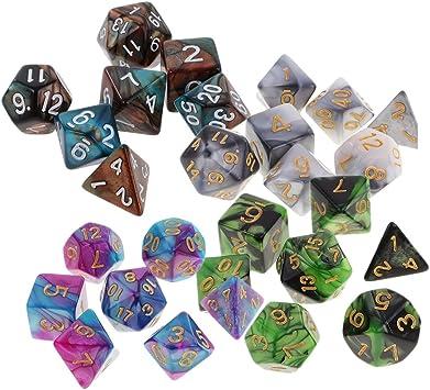 Sharplace 28 Piezas Dados Poliédricos para Dungeons & Dragons Juegos de Mesa RPG Partido: Amazon.es: Juguetes y juegos