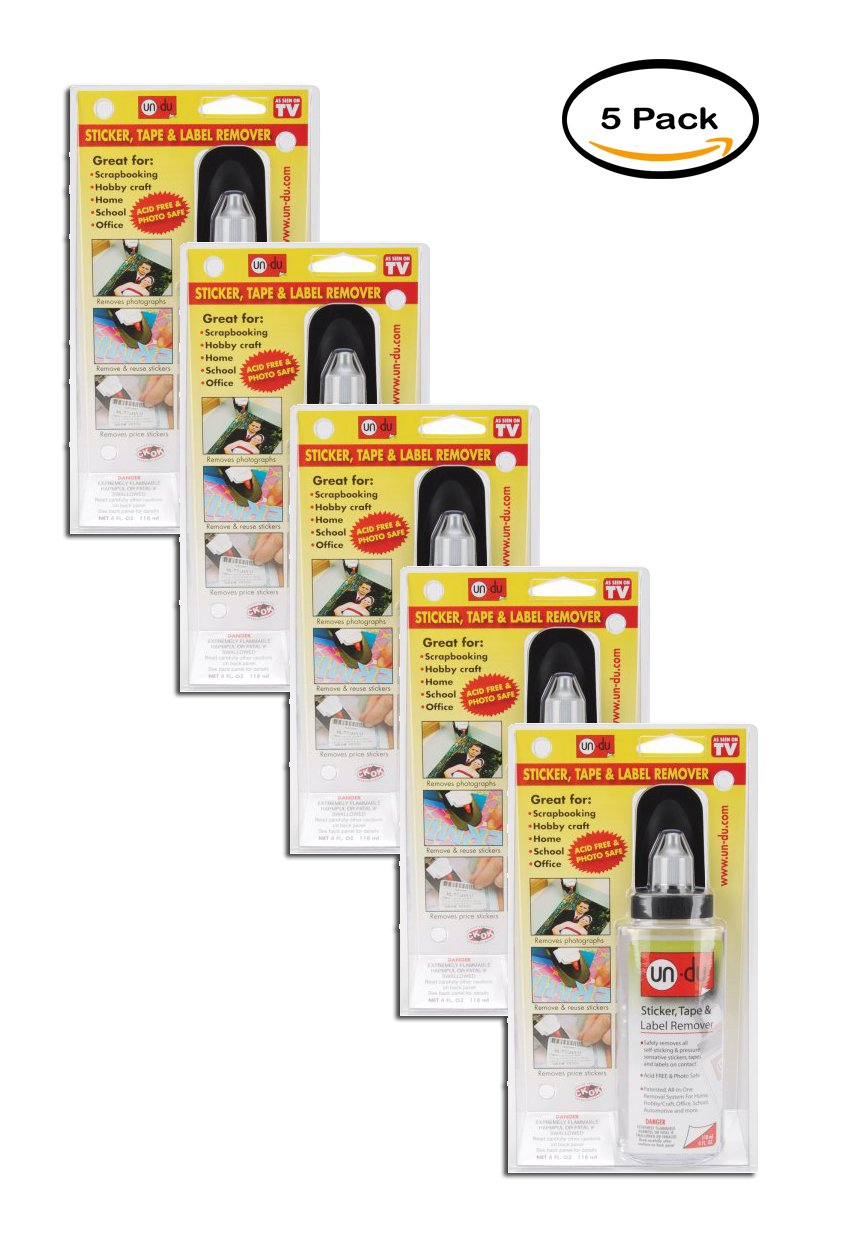 PACK OF 5 - Un-Du Adhesive Remover
