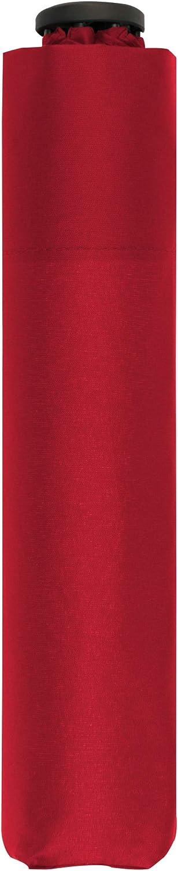 doppler Bolsillo Paraguas Cero,99 - Peso de sólo 99 Gramos - Estable - A Prueba de Viento - 21 cm - Fiery Red