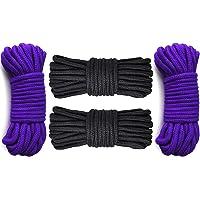 GiantGo 4 rollos de 5 metros de cuerda de algodón suave, cuerda trenzada de algodón suave, cuerda trenzada…