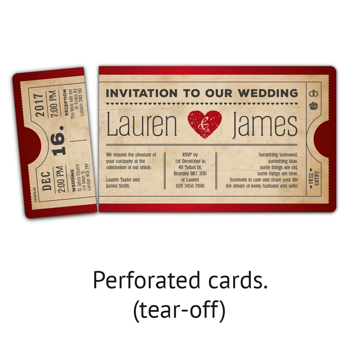30 x Wedding Invitation Cards Invite - Blue Vintage Heart Cinema ...