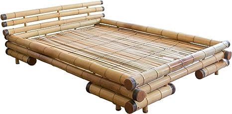 Homestyle4u bambú cama cama para futón cama de bambú 180 x ...