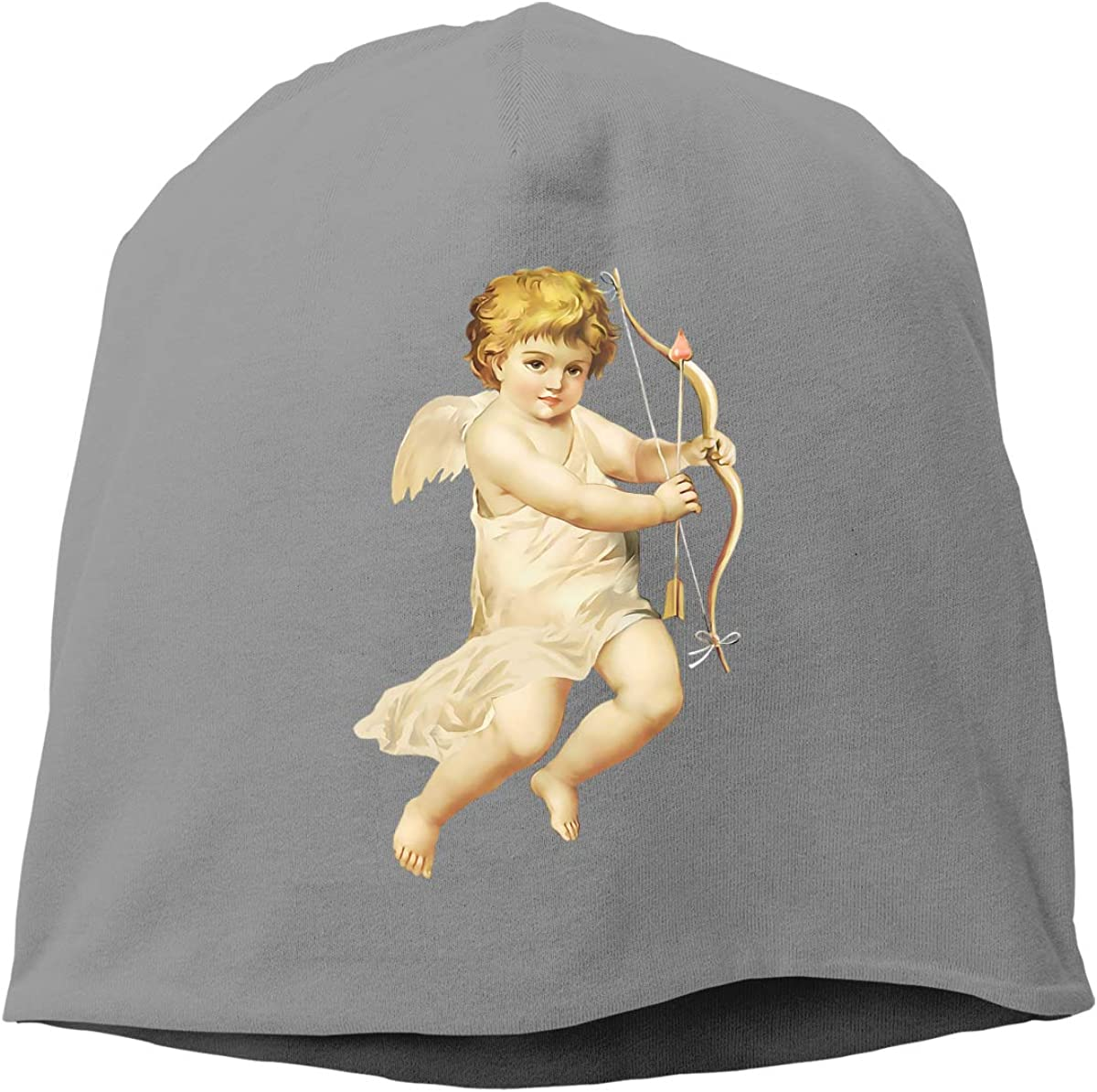Unisex Beanie Cap Soft Stretch Daily Slouchy Beanies Skully Caps Deep Heather God of Love Cupid Trendy Warm Cuffed Skull Knit Hat