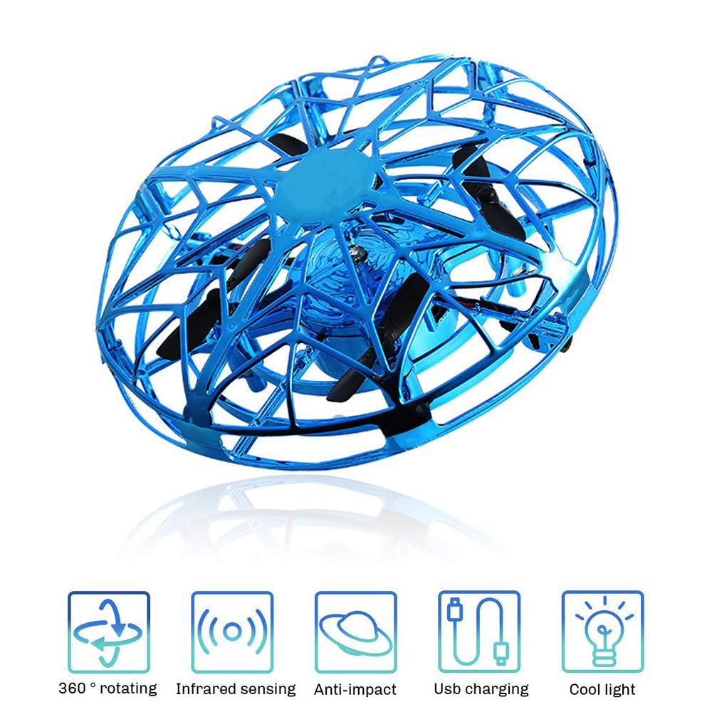 SUNNYPIG UFO Flying Ball for Kids, Toy for 3-12 Year Old Boys Remote Control Drone Helicopter Toys Gift for 6-10 Year Old Girls Children Birthday Gift Age 8 9 Boys by SUNNYPIG