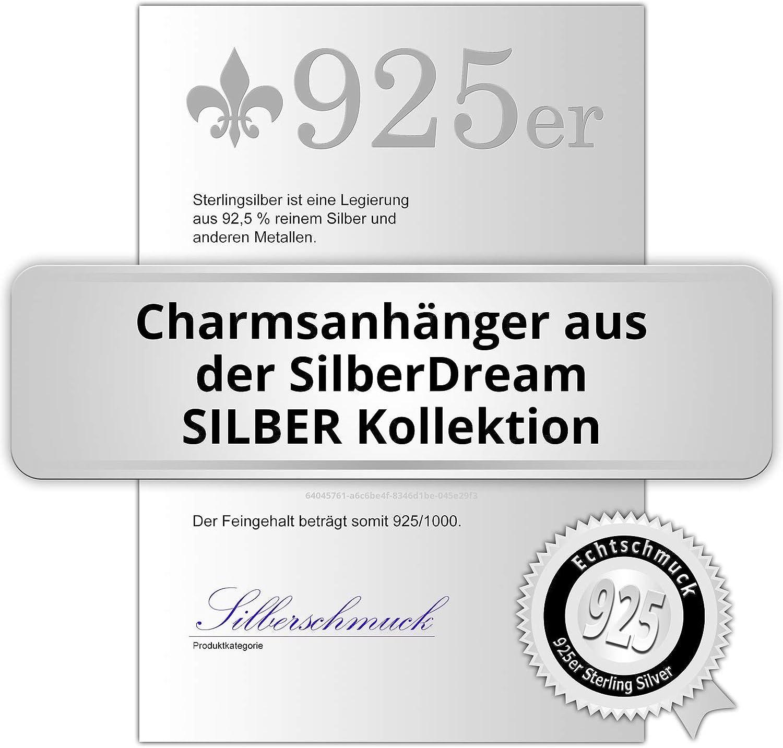GSC582H scintillement Charms Charm couple de dauphin bleu clair Femme SilberDream scintillement bijoux tch/èques cristaux Preciosa Argent 925//1000