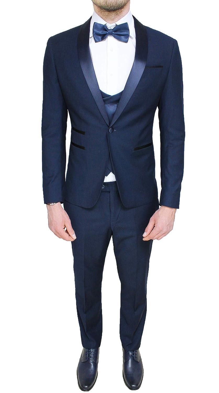 Evoga Vestido para Hombre Sartorial Azul Oscuro Juego ...