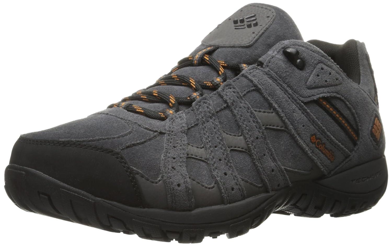 Columbia Redmond Leather Omni-Tech, Zapatos de Low Rise Senderismo para Hombre 41 EU|Gris (Dark Grey/ Bright Copper)