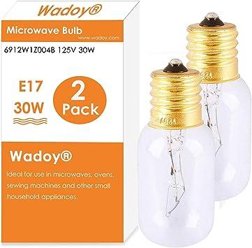 125-volt//30-watt LG Electronics 6912W1Z004B Microwave Oven Incandescent Lamp
