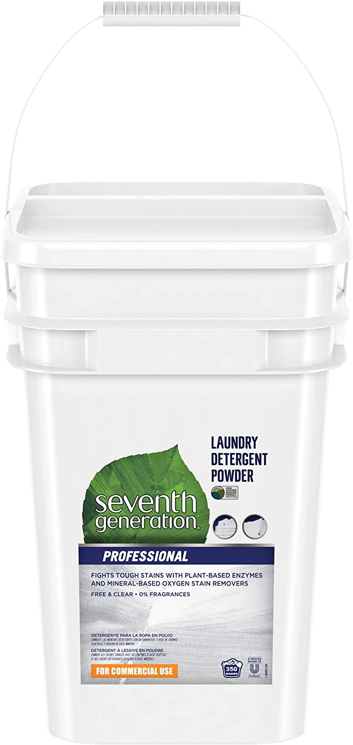 Seventh Generation Professional Laundry Detergent Powder, Free & Clear, Unscented, 35 lb (35 Pound)