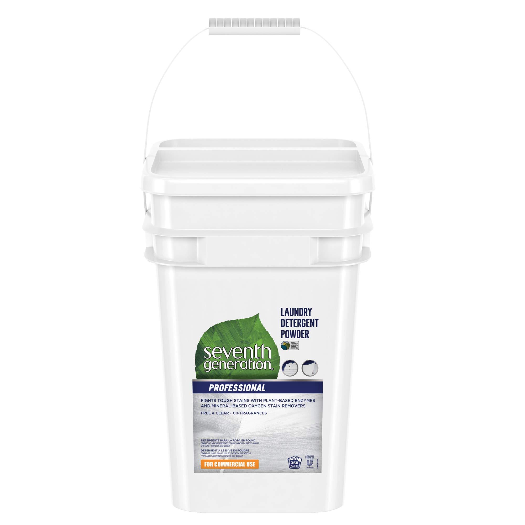 Seventh Generation Professional Laundry Detergent Powder, Unscented, 35 Pound