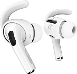 EarBuddyz Ear Hooks Compatible with AirPods Pro [Storage Pouch Included] Anti-Slip Covers Accessories (S, M, L, White)