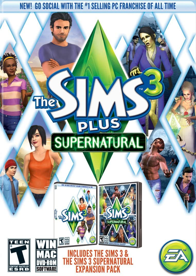 Amazon com: The Sims 3 Plus Supernatural: PC: Video Games