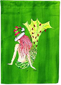 Caroline's Treasures 8631GF Christmas Mermaid Flag Garden Size, Small, Multicolor