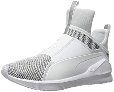 b82ab8b1c62 PUMA Women s Fierce Knit Cross-Trainer Shoe White