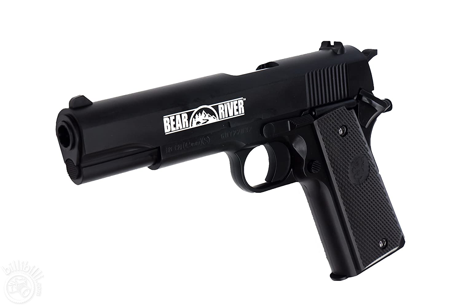 Bear River 1911 BB Pistol Kit - Spring Powered BB Gun - No CO2 Needed - Includes Gel Target and Ammo