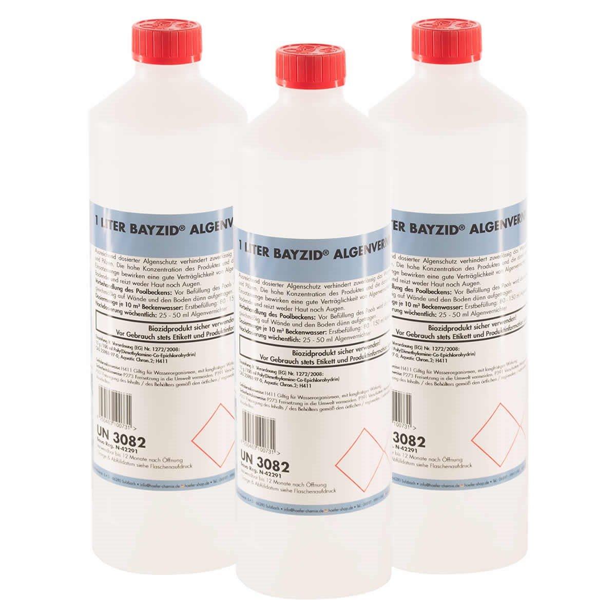Höfer Chemie 6x1 L Pool Algenvernichter - Anti Algenmittel für Schwimmbad & Pool - schnelle Wirkung bei Algen Höfer Chemie GmbH