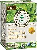 Traditional Medicinals Organic Green Tea Dandelion Tea, 16 Tea Bags