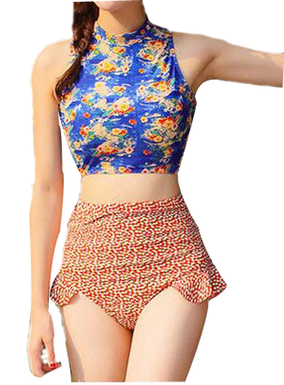 TAOZHN Badebekleidung Bikini Weiblich Wassersport Strand Schöner Eleganter Bikini Obscure Badeanzug M L XL
