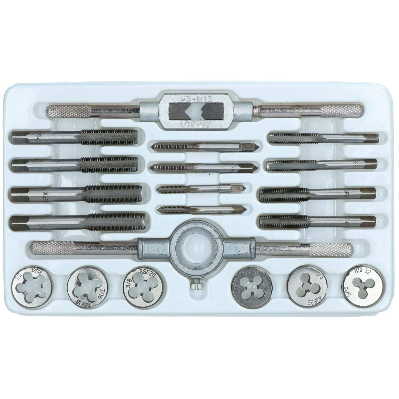 Jeu de tarauds et fili/ères de FSB 20pc Standard britannique 3//16 Fine 1//2 Whitworth TE741