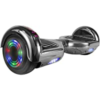 OTTO Hoverboard UL Certified T67SE 6.5''Smart Electric Self Balancing Scooter with LED Lights Flash Lights Wheels and Bluetooth Speaker Dual 250W Motors 220LB Max Loaded