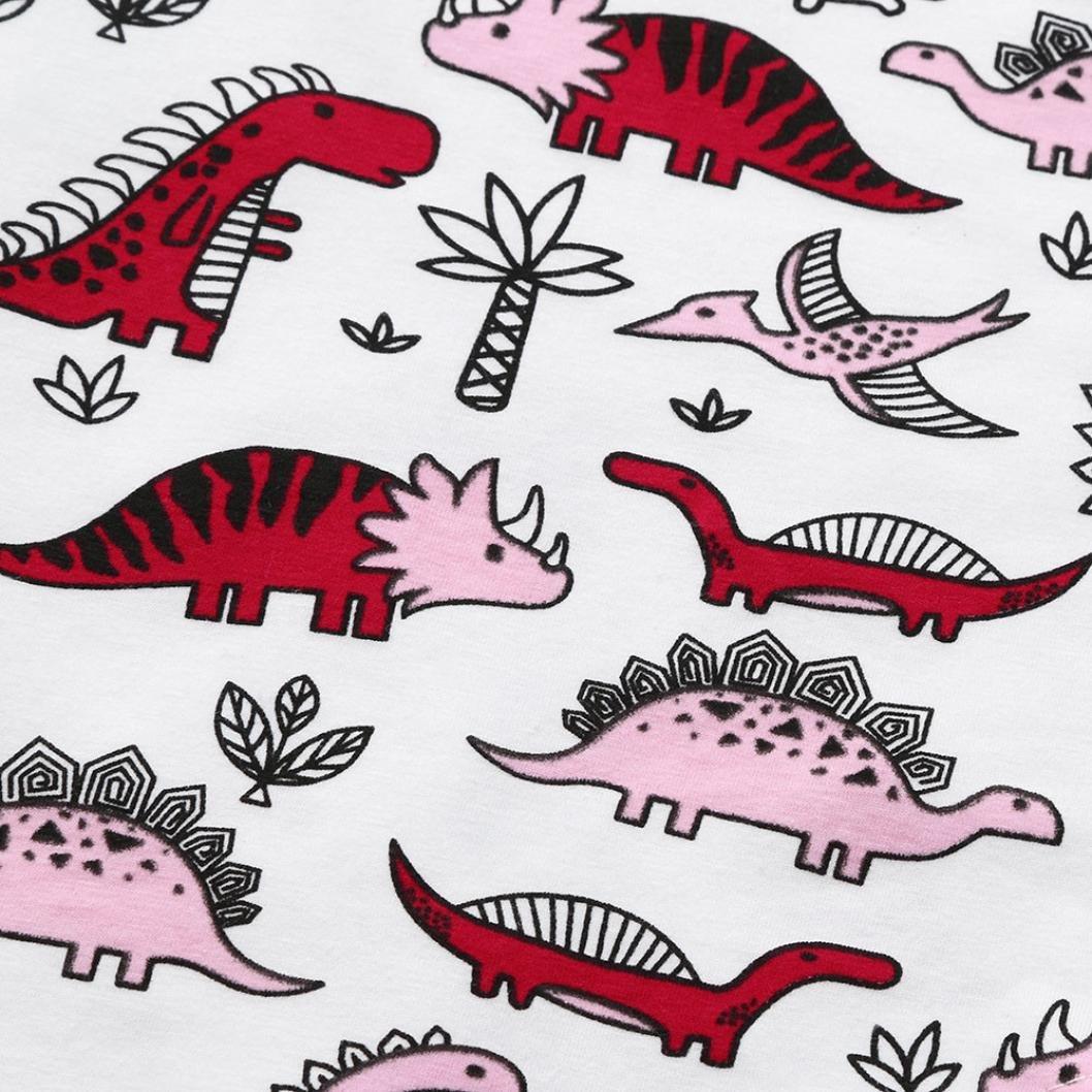 Memela Baby Girls Clothes Layette Cartoon Dinosaur Print Dress 0-5 Years Spring//Summer