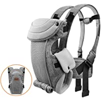 Newborn Baby Carrier, Bable Soft and Cozy Ergonomic Baby Carrier, 8-20 lbs (3.6-9 kg), for Newborn to 1 Year Old Baby…