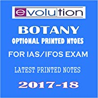 BOTANY IAS Printed Notes Evolution Coaching for IAS/IFoS Exam(11 Booklets Latest 2017)