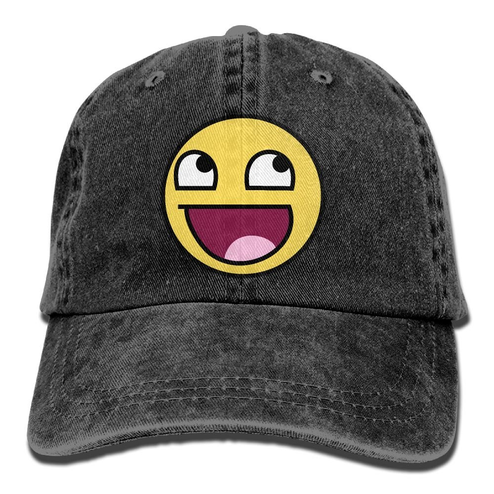 XZFQW Funny Awesome Epic Face Trend Printing Cowboy Hat Fashion Baseball Cap For Men and Women Black