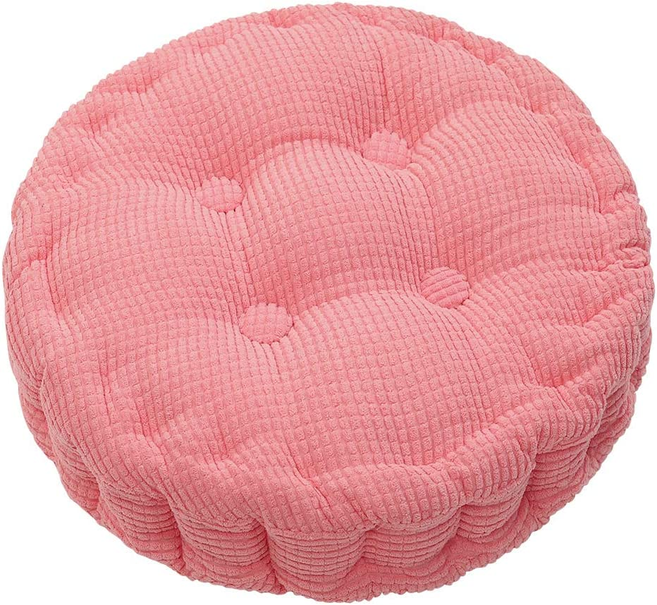 HomeMiYN Outdoor Round Seat Cushions Solid Color Indoor Chair Pads EPE Cotton Filled Boosted for Patio Office Kitchen 15.75 inches in Diameter