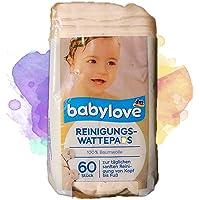 Babylove Reiniging wattenpads, 4 stuks (4 x 60 stuks)