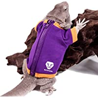 WATFOON Small Pet Jacket for Bearded Dragon and Other Small Animals (L, Purple/Yellow)